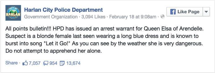 Frozen Elsa Arrest