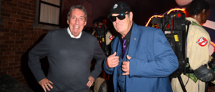 Watch: 'Ghostbusters' Star Dan Aykroyd and Director Ivan Reitman Visit the Ghostbusters Maze at Halloween Horror Nights