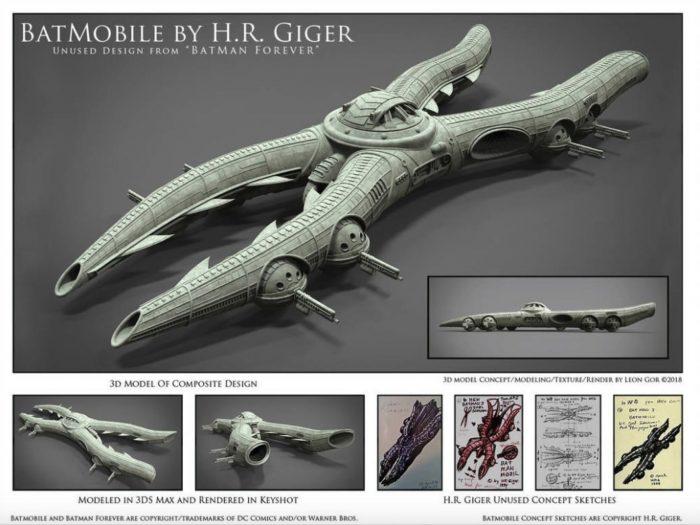 Giger Batmobile concept art 3