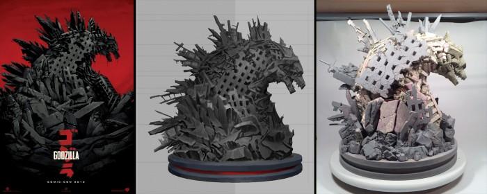 Mondo Godzilla Statue Process