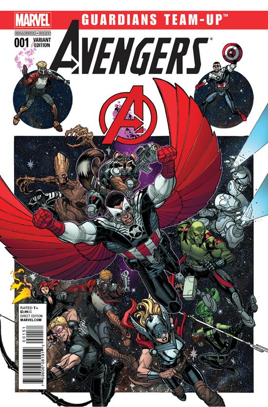 Guardians Avengers team up