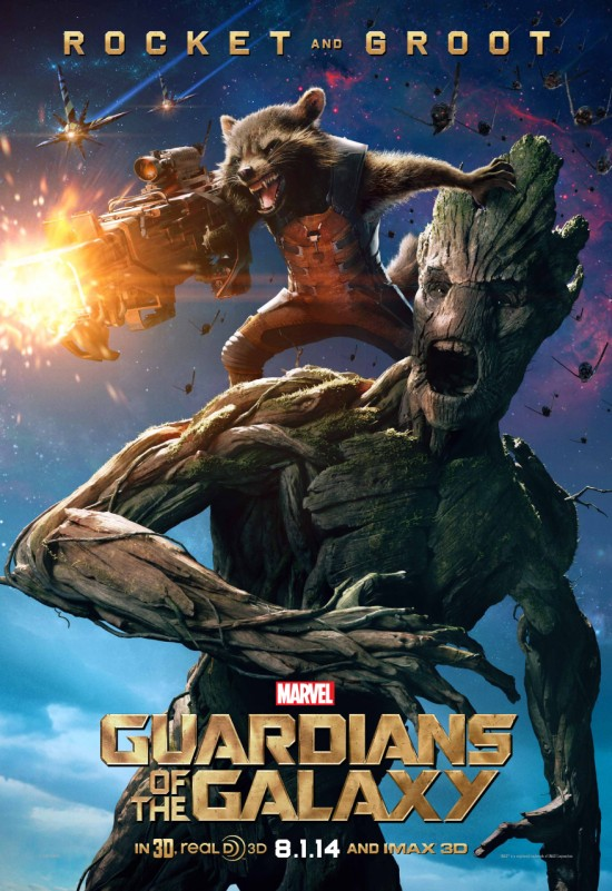 Guardians Galaxy Rocket Groot poster