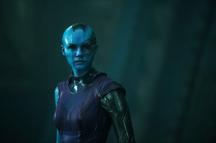 Karen Gillan as Nebula in Guardians of the Galaxy