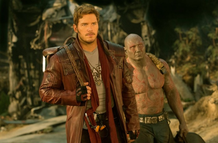 Guardians of the Galaxy Vol 2 - Star-Lord (Peter Quill) and Drax (Dave Bautista)