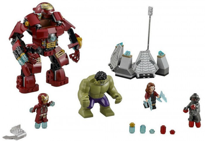 Hulkbuster Lego white