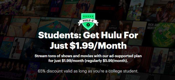 Hulu College Student Plan