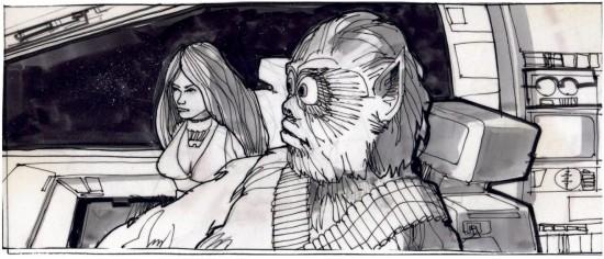 joe johnston chewbacca storyboard