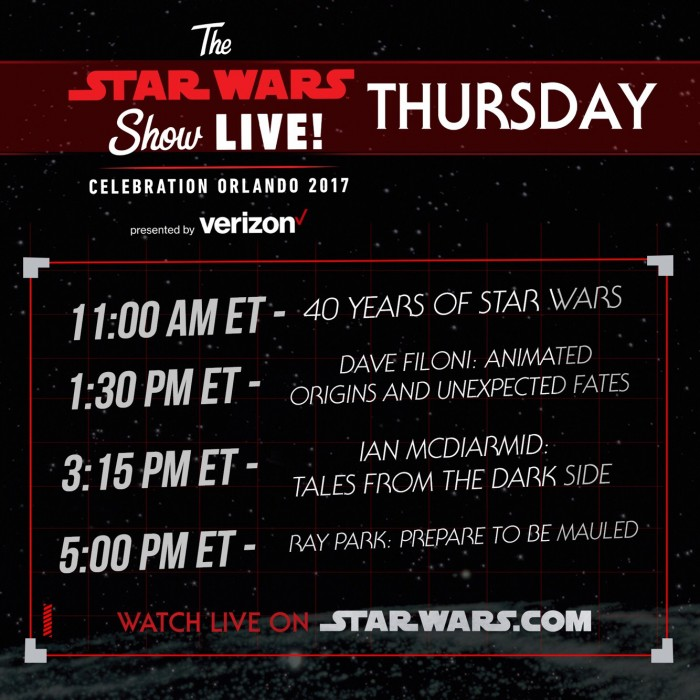 Star Wars Celebration Thursday