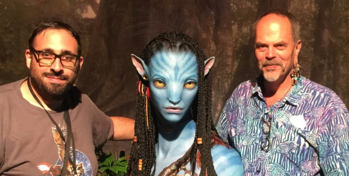 Joe Rohde and Peter Sciretta at Avatar Land display at D23 Expo 2015