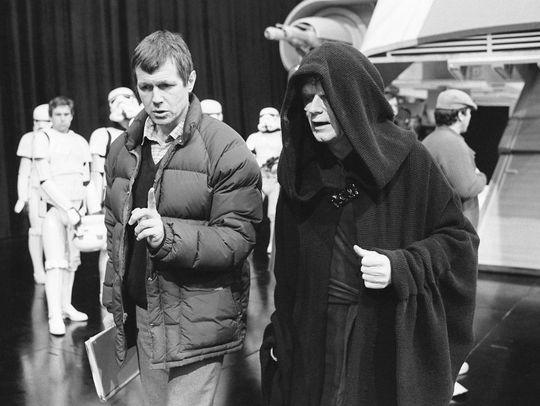 Ian McDiarmid on Return of the Jedi set