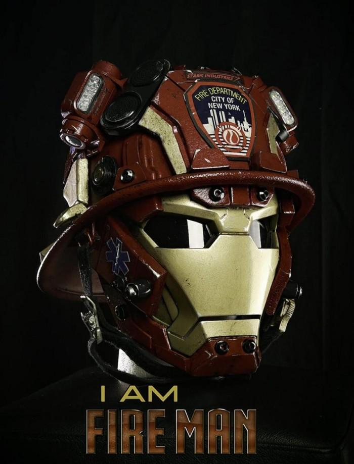 Iron Man FDNY helmet