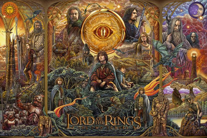 """Ise Ananphada """"Lord of the Rings: The Two Towers"""" 14 color screen print"""