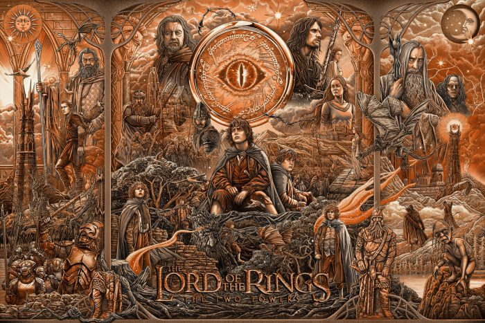"""Ise Ananphada """"Lord of the Rings: The Two Towers"""" Variant 10 color screen print"""