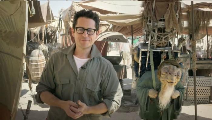 JJ Abrams Star Wars Force Awakens set