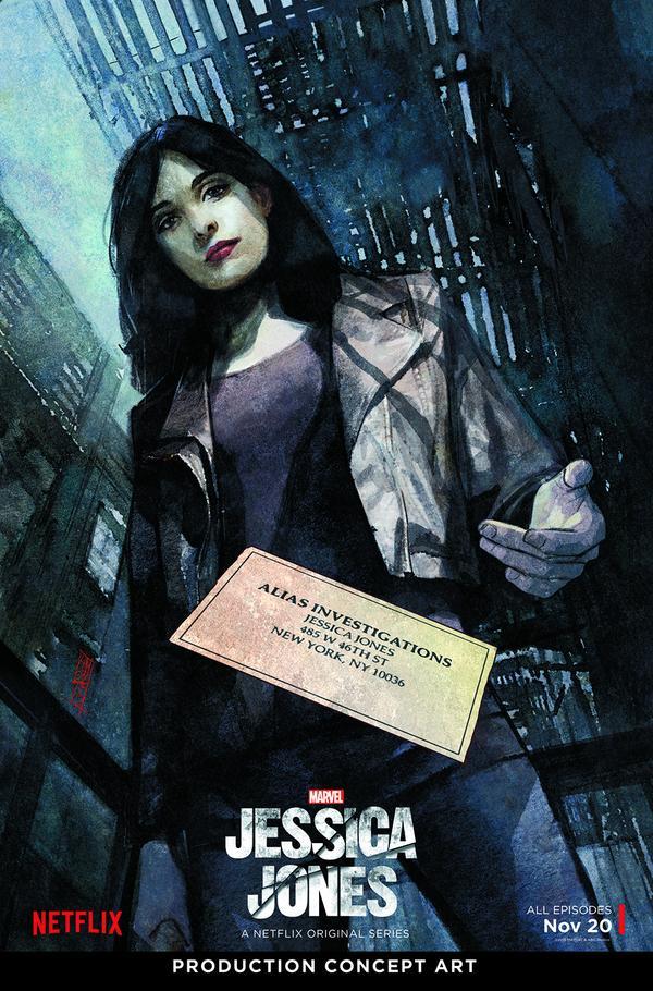 Jessica Jones concept art poster