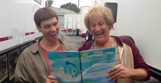 Jim Carrey and Jeff Daniels on Dumb and Dumber To set