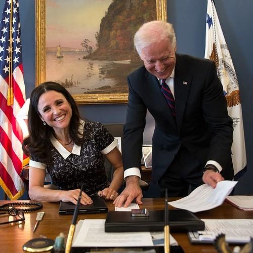Joe Biden and Veep's Julia Louis Dreyfus