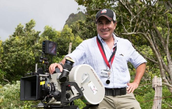 John Schwartzman on the set of Jurassic World