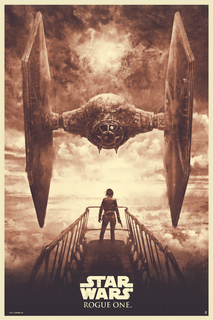Rogue One print by Karl Fitzgerald red acme variant