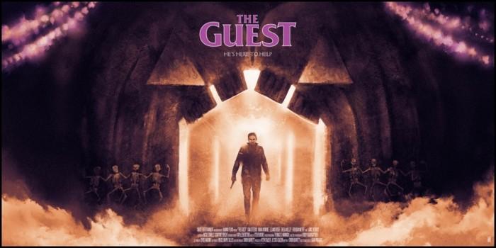 Karl Fitzgerald's the guest screenprint poster