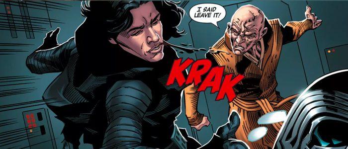 Kylo Ren getting slapped