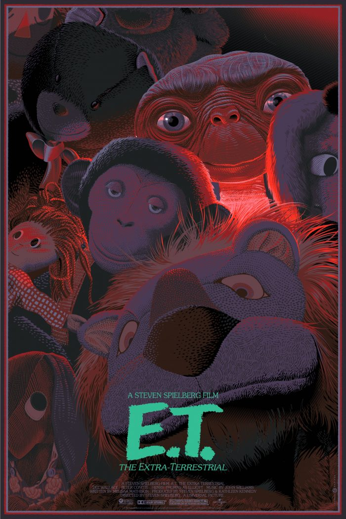 "Laurent Durieux ""E.T."" Screen print"