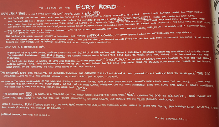 Legend of the Fury Road
