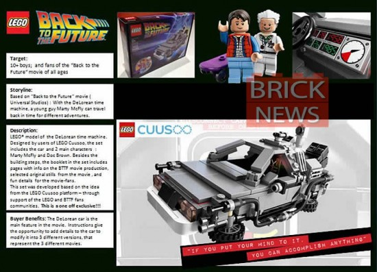 Lego Back to the Future Sheet