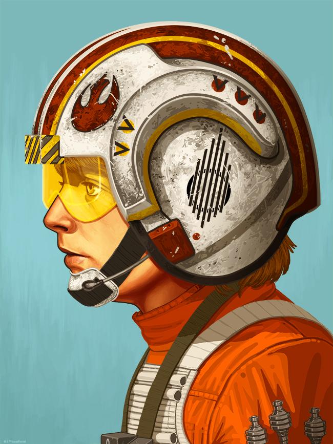 Luke Skywalker by Mike Mitchell