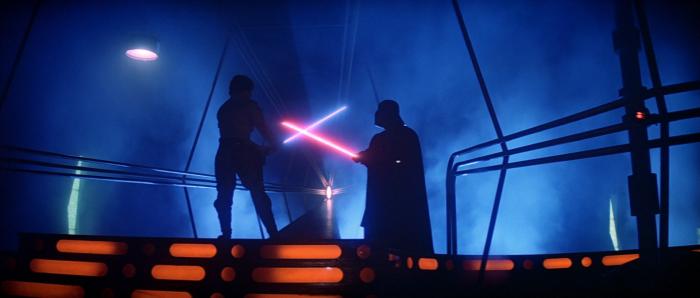 Luke and Darth Vader's Duel