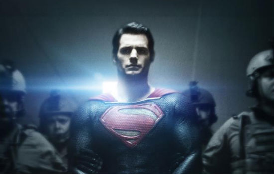 new man of steel poster paints superman as the villain film