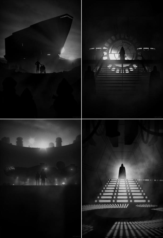 Marko Manev Star Wars - Noir variants
