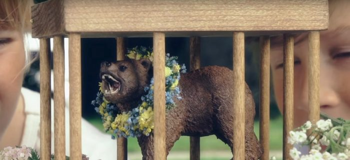 Midsommar Bear in a Cage