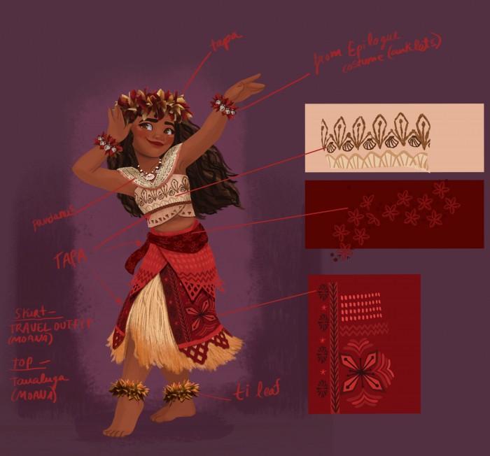 Moana dance costume