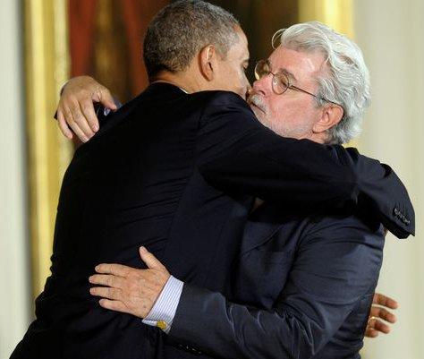 Obama - Lucas hug