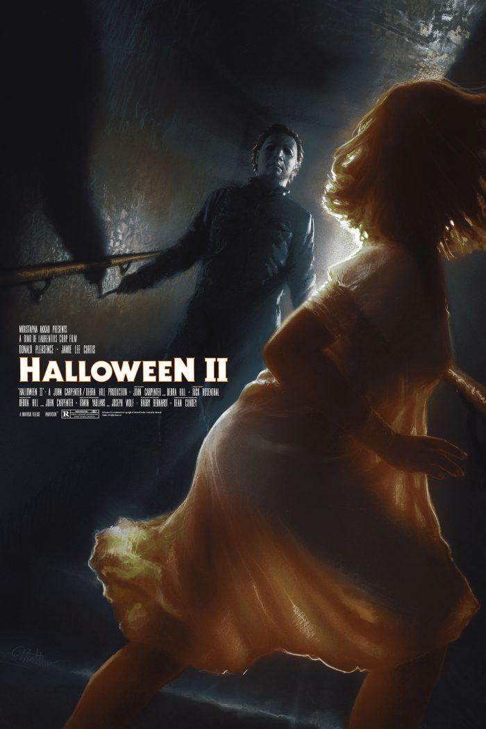 """Matthew Peak """"Halloween 2"""" 14 color screen print"""