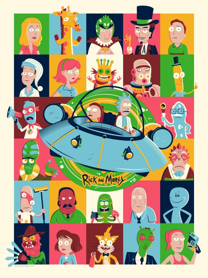 """Dave Perillo """"Rick and Morty"""" Screen print"""