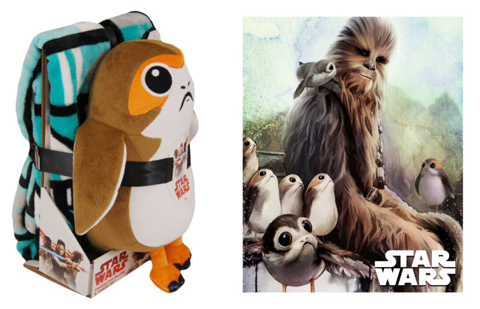 Porg pillow and throw