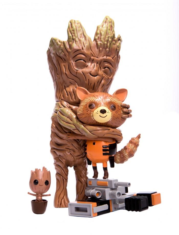 Mondo Rocket and Groot treehugger vinyl figure mondo exclusive