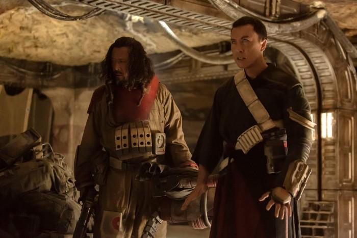 Rogue One A Star Wars Story - Wen Jiang as Baze Malbus, Donnie Yen as Chirrut Imwe