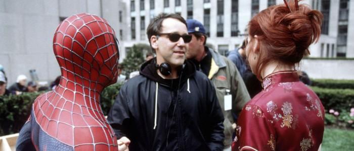 Sam Raimi directing Spider-Man
