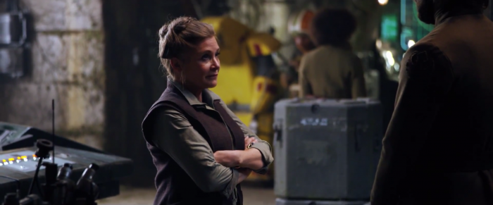 Star Wars: The Force Awakens: carrie fisher as princess leia