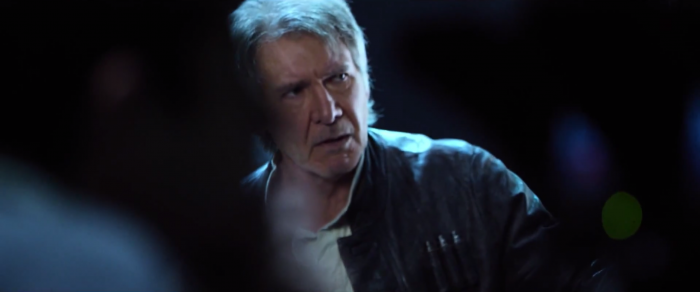 Star Wars: The Force Awakens: Harrison ford as han solo behind the scenes