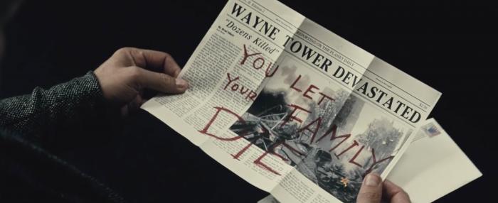 Bruce Wayne note in Batman V Superman: Dawn of Justice