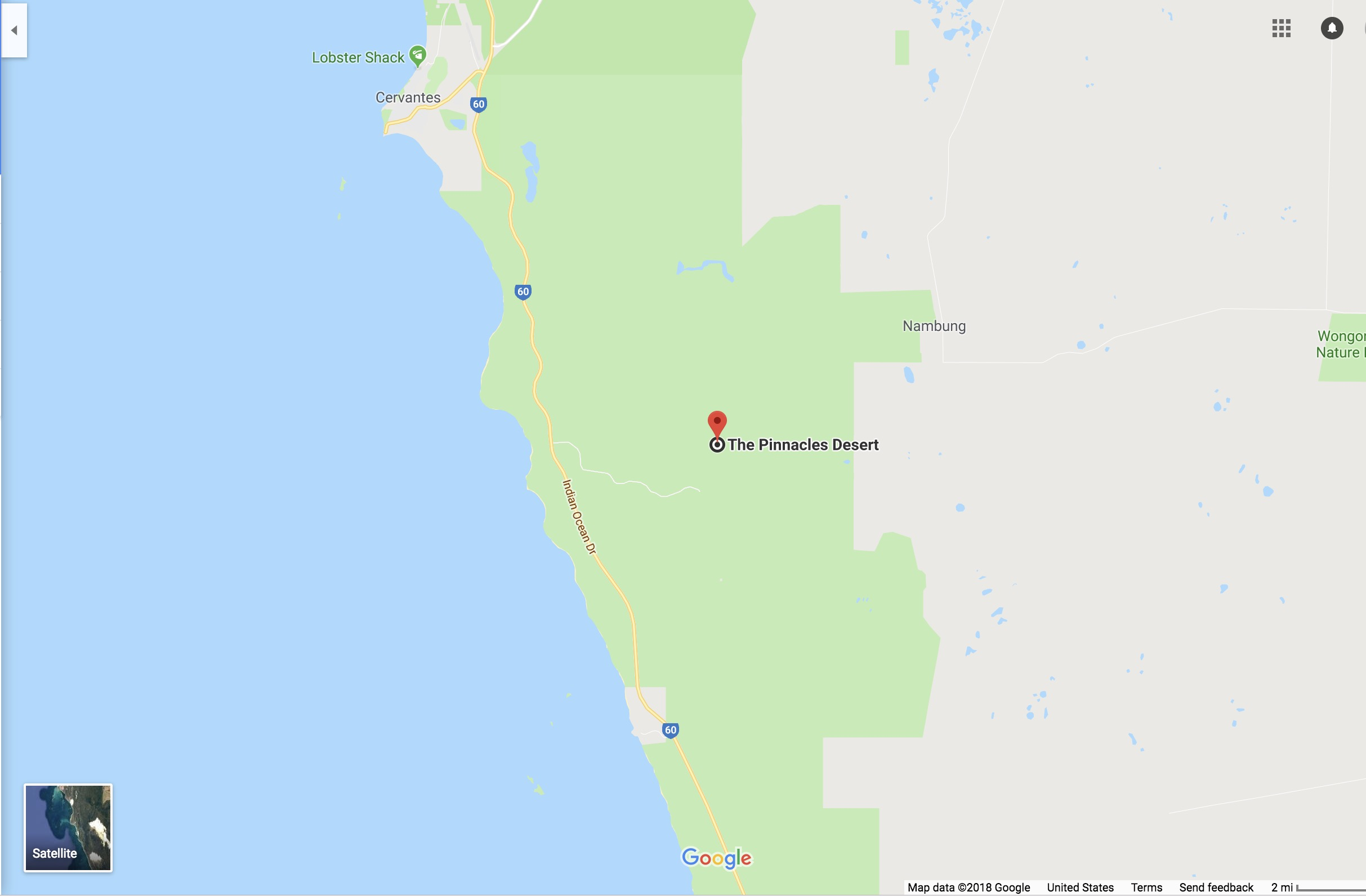 Can Visit The Shooting Location Its An Area Known As The Pinnacles Located In Nambung National Park In Australia You Can See It On The Map Below