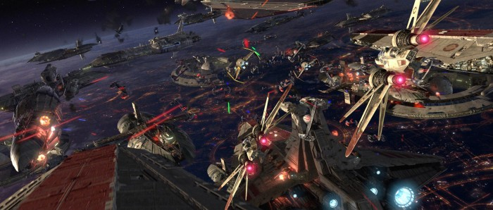 revenge of the sith space battle