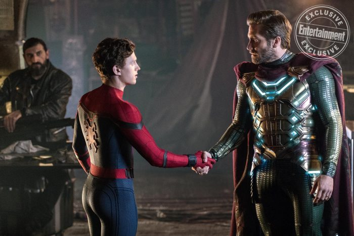 Spider-Man Far From Home photo Mysterio handshake