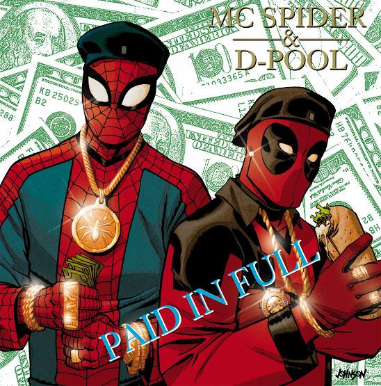 Spider-Man and Deadpool hip-hop variant
