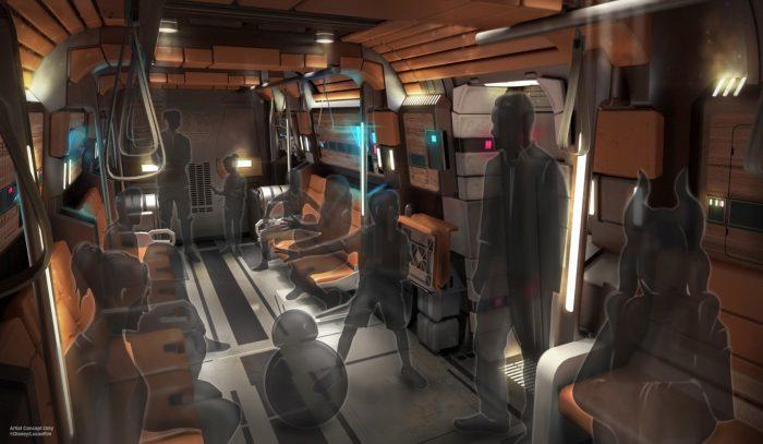 Star Wars Galactic Starcruiser concept art transport