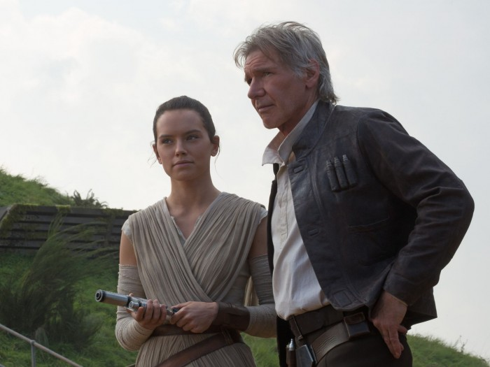 Star Wars The Force Awakens Rey and Han Solo